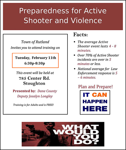 active shooter and violence poster